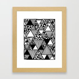 Triangular world Framed Art Print