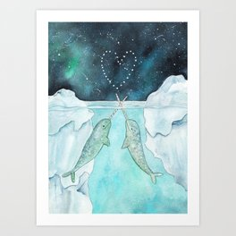 Our love is written in the stars Art Print