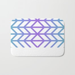 Herringbone Chevron (Chunky Dream Gradient On White) Bath Mat