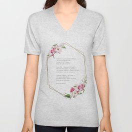Forever Is Composed Of Nows - Geometric Floral Emily Dickinson Poem Unisex V-Neck