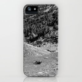 Backpack Travels in the French Pyrénées iPhone Case