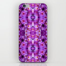 Violet Purple White Flower Pattern iPhone Skin