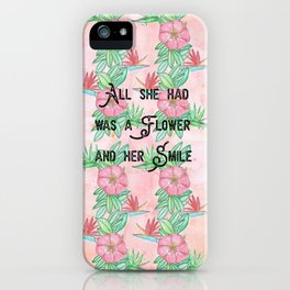 Surfer girl quotes iPhone Case