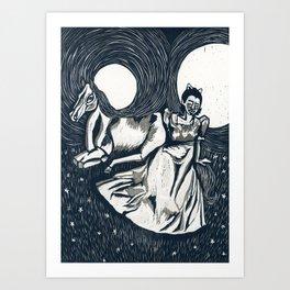 Princesses, monsters, ponies, oh my! Art Print