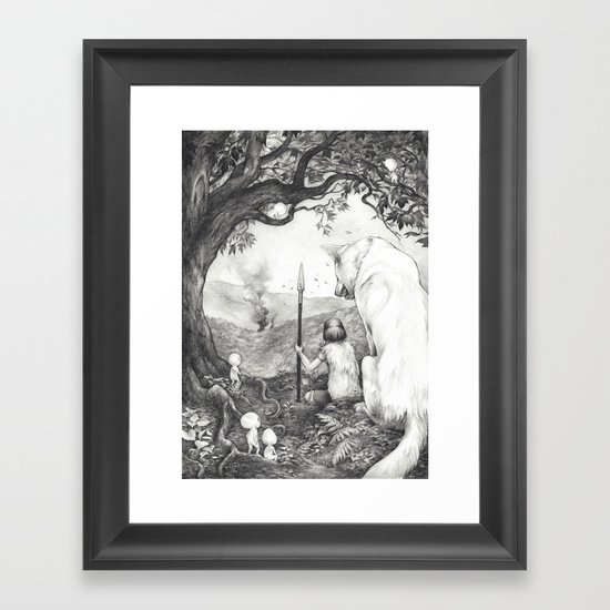 Between the Roots and the Branches Framed Art Print