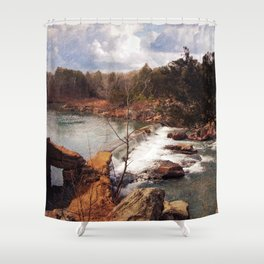 Marble Creek Shower Curtain
