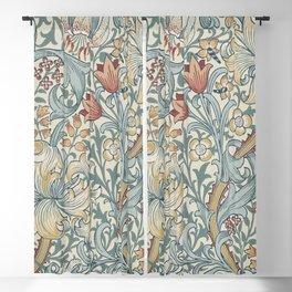 William Morris Vintage Golden Lily Soft Slate & Manilla Blackout Curtain