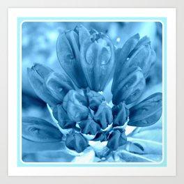 Flower in Blue   Blue Flowers   Blue Azalea   Nadia Bonello Art Print