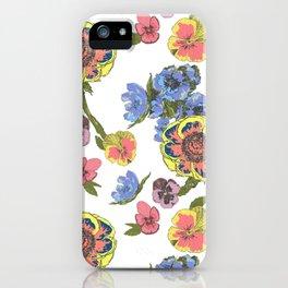 flower pattern II iPhone Case