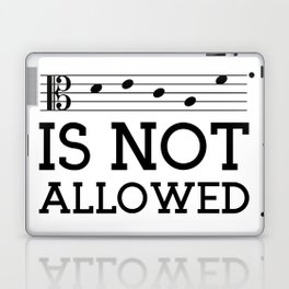 Decaf is not allowed (alto version) Laptop & iPad Skin