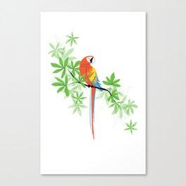 Tropical Parrot Summer Canvas Print