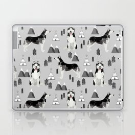 Husky siberian huskies mountains pet portrait dog dogs pet friendly dog breeds gifts Laptop & iPad Skin