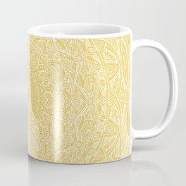Most Detailed Mandala! Yellow Golden Color Intricate Detail Ethnic Mandalas Zentangle Maze Pattern Coffee Mug