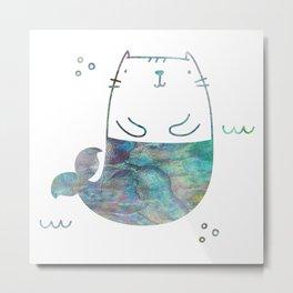 MerKitty Ocean Seashell Metal Print