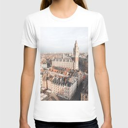 French Houses And Church From Above Photo | City Of Lille Art Print | France Europe Travel Photography T-shirt