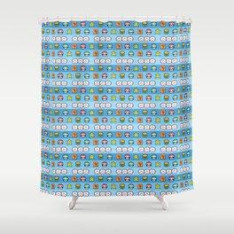 Pixel retro game Shower Curtain