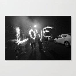 Long Exposure Love Canvas Print