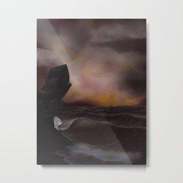 A Stormy Ocean Metal Print