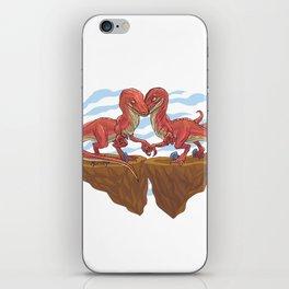 Velociraptor Love iPhone Skin