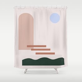 Block Print Shower Curtains
