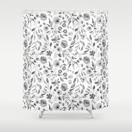 Indy Bloom Farm house florals Shower Curtain