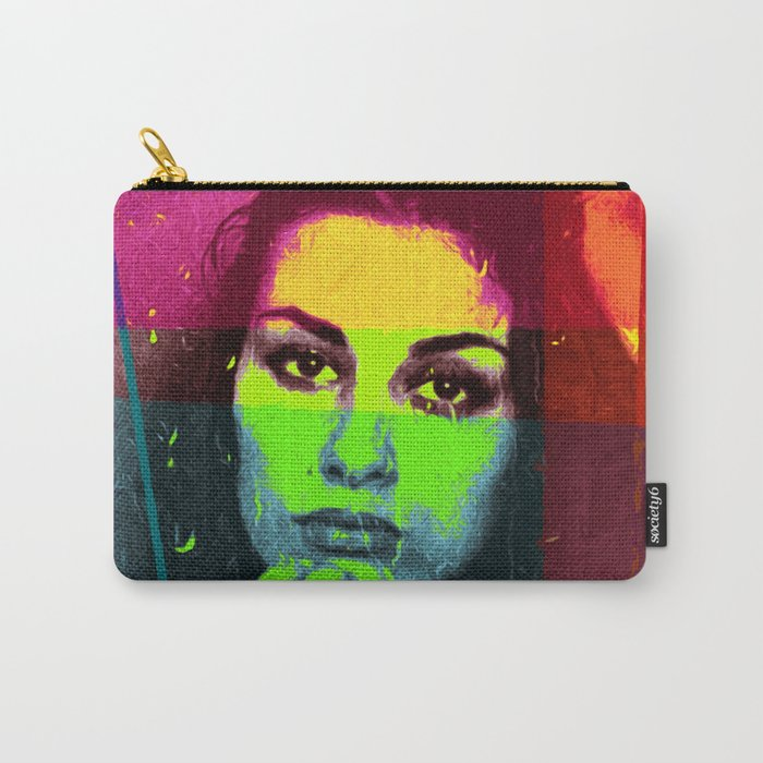 Abstract #360 Pensive Beauty Carry-All Pouch