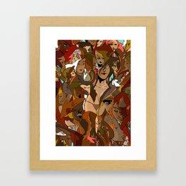 Melt love2 Framed Art Print