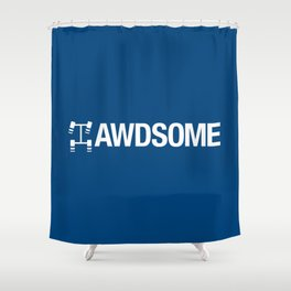 AWDSOME v5 HQvector Shower Curtain