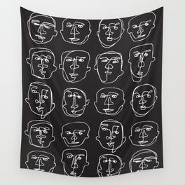 Facial Expression (Inverted) Wall Tapestry
