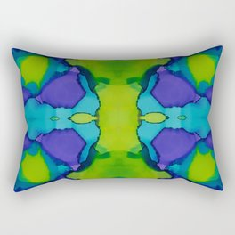 Purple and green dreams Rectangular Pillow