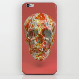 Red Candy Skull iPhone Skin