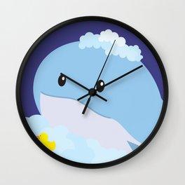 Bathing Whale Wall Clock