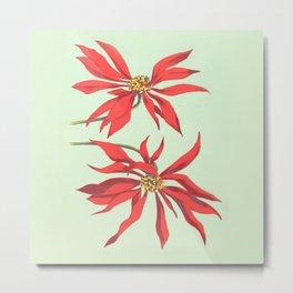 Joanne's Red Flowers Metal Print