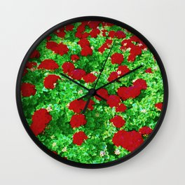 Geraniumz Wall Clock