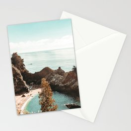 California Coast | Big Sur McWay Falls Coastal Camping Road Trip Tapestry Art Print Stationery Cards