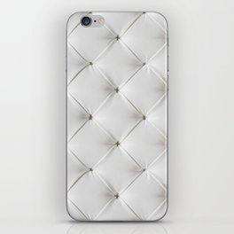 White Tufted iPhone Skin