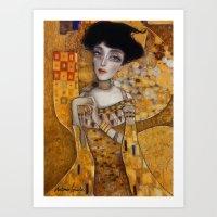 klimt Art Prints featuring klimt by Antonio Lorente