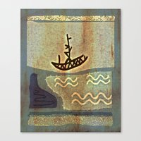 boat Canvas Prints featuring Boat by Menchulica
