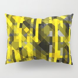 abstract composition in yellow and grays Pillow Sham