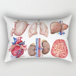 Watercolor organs Rectangular Pillow