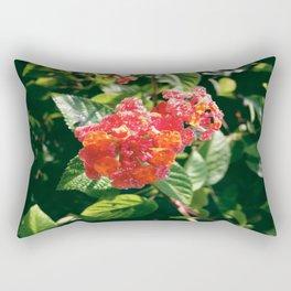 Ruby Lantana Camara Rectangular Pillow