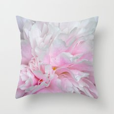 LOVELY PINK PEONY Throw Pillow