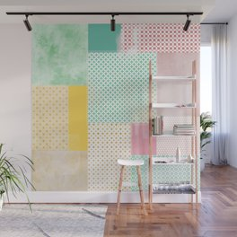 subtle geometric quilt Wall Mural