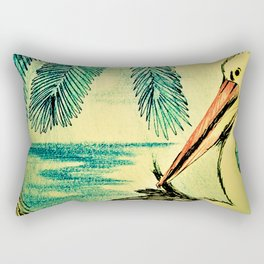 50,S RETRO PELICAN TROPICAL ART DECO PRINT Rectangular Pillow