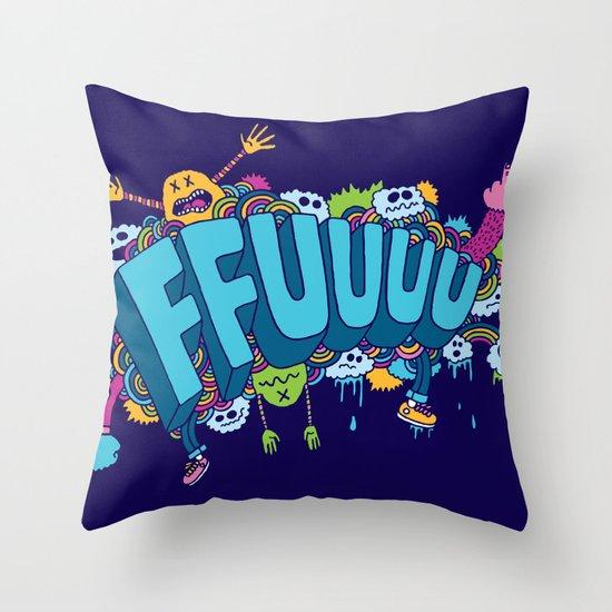 FFUUUU Throw Pillow