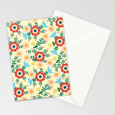 Folk Floral (yellow) Stationery Cards