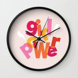 Girl Power (Feminism typography) Wall Clock