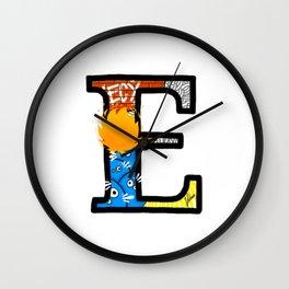 initial E Wall Clock