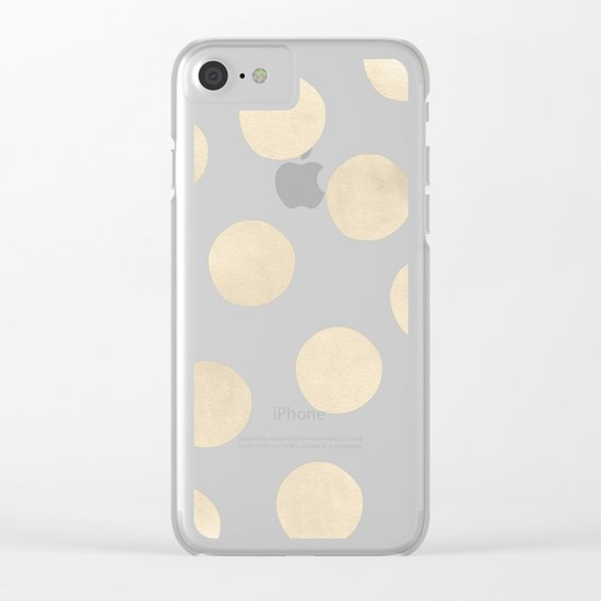 Gold Polka Dots Clear iPhone Case