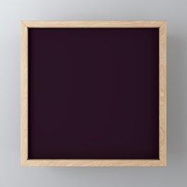 Simply Deep Eggplant Purple Framed Mini Art Print